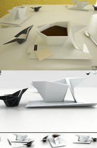 Desain Mug Origami