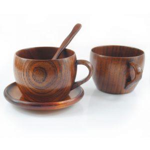 Desain Mug Unik Bahan Kayu
