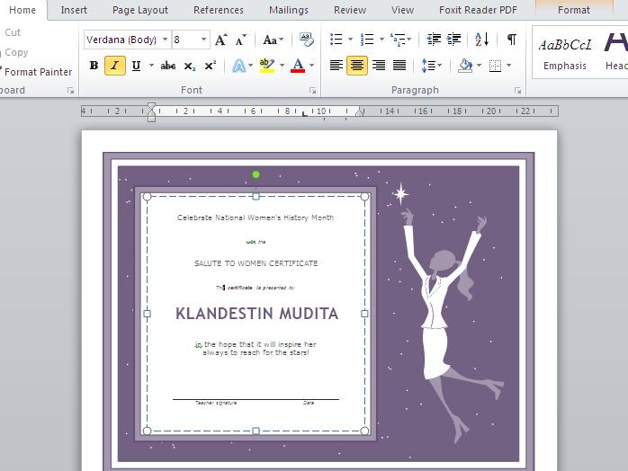 Membuat Desain Sertifikat atau Piagam Dengan Microsoft Word Artikel Perbedaan Sertifikat dan Piagam